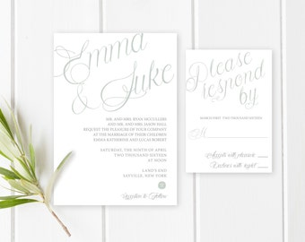 Wedding Invitation, Printable Wedding Invitation, Wedding Invites, Printable Wedding Invitation, Beach Wedding Invitation, Engaged [343]