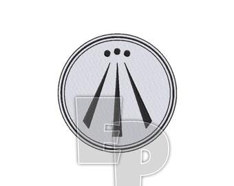 Awen Druid Spiritual Religious Sacred Symbol Machine Embroidery Pattern Design