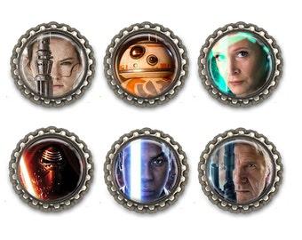 New Star Wars Inspired Bottle Cap Necklace /Keychain/ Zipper Pull