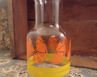 Vintage Orange Juice Carafe Libbey of Canada