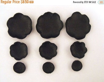 50% OFF SALE Leather craft DIE Cut supplies Pre cut  flowers Jewelry findings Petals Applique