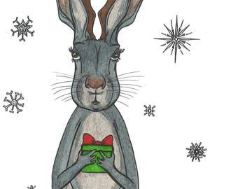 Jackalope Christmas/Holiday Card