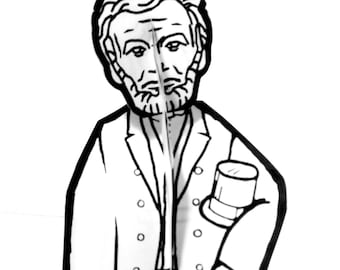 Abraham Lincoln Paper Doll - Printable Toy
