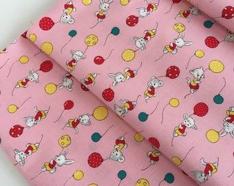 Vintage animal fabric (pink)