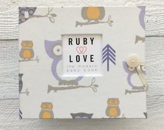 Lavender Owls | BABY BOOK