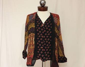 CAROLE LITTLE crepe layered cardigan vest combo 6