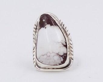 Triangular, White Buffalo Ring