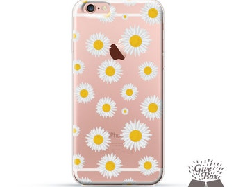 iPhone X Case iPhone 7 Case Daisy Floral Flowers, iPhone 7 Plus Case Clear iPhone 8 Case iPhone 6s Plus Case Samsung S7 Case, Samsung Cases