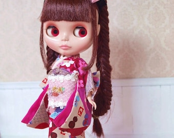 Holiday Kimono - Outfit For Blythe Doll