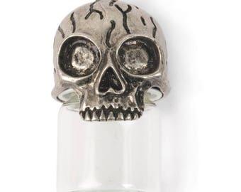 Glass Vial Pendants Glass Bottle Charm Glass Bottle Pendant Skull Pendant Steampunk Pendant Steampunk Supplies 2 Inch Vial