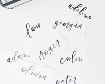 Watercolor Calligraphy Name Cards