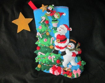 "Bucilla's ""The Finishing Touch"" Completed Felt Stocking"