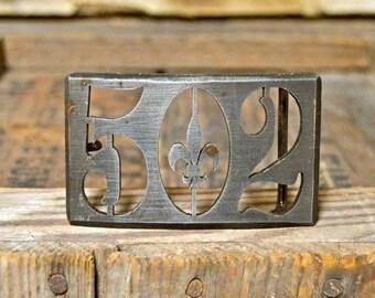 502 Polished Metal Belt Buckle