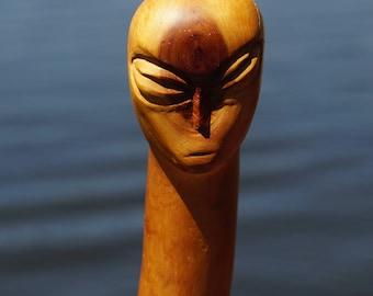 Alien Head Walking Stick