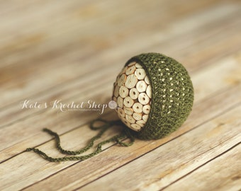 Army Green Bonnet Photography Prop