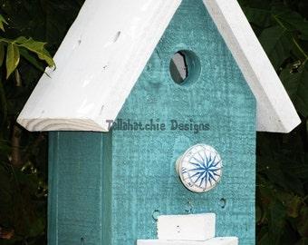 beach birdhouse, birdhouse outdoor, country garden birdhouse, rustic birdhouse, nautical birdhouse, hanging birdhouses, small bird house