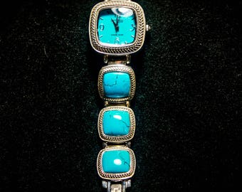 Turquoise & Sterling Silver Watch