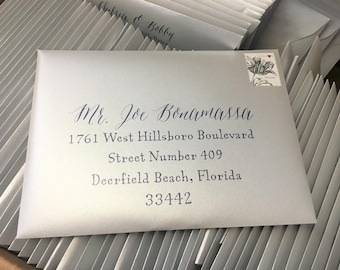 Add-On: Printed Envelope For Any Wedding Invitation Suite, RSVP Envelopes, A7, A2, 4Bar, Printed Addressing SET OF 25