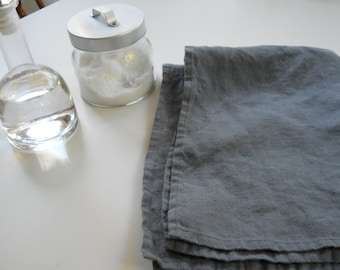 DISH TOWEL(set of 2)... linen...Dark gray
