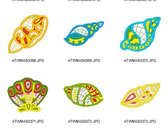 Colorlace-SeaShells ( 12 Machine Embroidery Designs from ATW ) XYZ17B