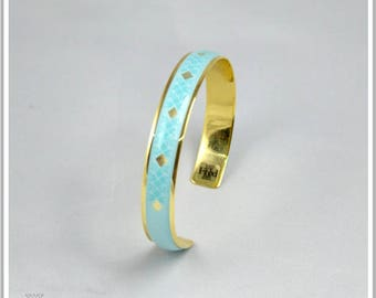 Bangle gold plated 24 K Carla blue