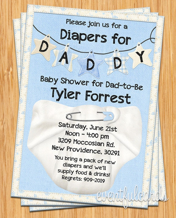 Diapers for daddy baby shower invitation filmwisefo Images