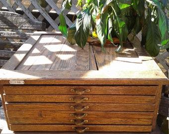 Oak Watchmakers Cabinet, Jewelry Storage, Craft Storage