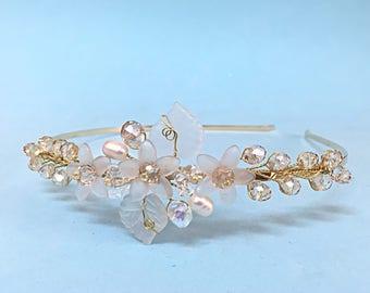 Wedding Hair Accessories Wedding Headband For Bride Tiara Headband Wedding, Bridal Headpiece Boho Wedding Headpiece For Bride Headband Gold