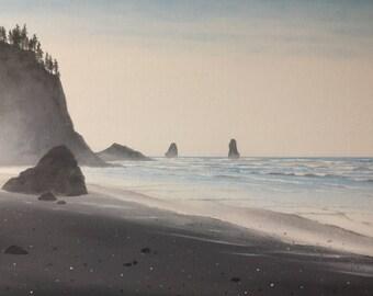 Sea Seascape rocks original oil on canvas oil painting 20x16in
