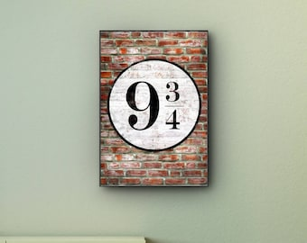 Harry Potter - Platform 9 3/4 King's Cross Fictional Travel Print wall art. Choose either a rolled print or amazing float frame