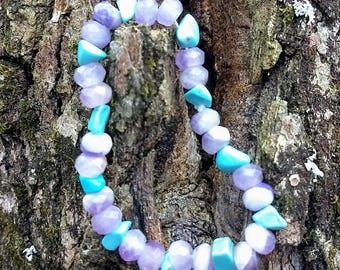 Amethyst and Turquoise Bracelet