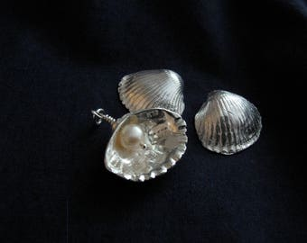 Silver pendant. Shell