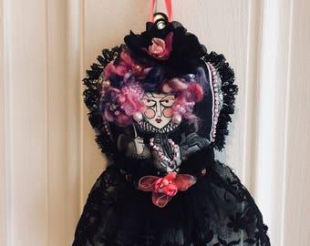 Valentine Home Decor Ornament Goth Doll Beaded