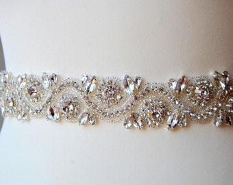 Bridal Belt Sash Rhinestone Belt Sash Flower Girl Bridesmaid Gift Sash belt Crystal Dress Sash Belt
