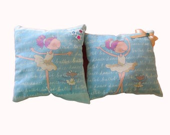 """Dancers stars"" pillow for little girl's room"