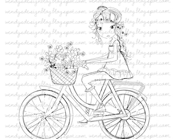 Girl On A bike