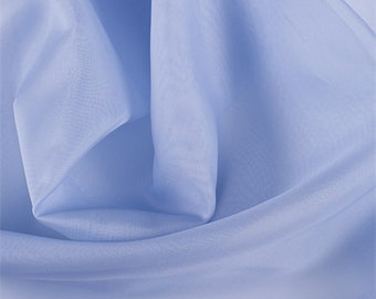 Sky Blue Silk Organza, Fabric By The Yard