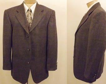 60's Vintage Hardey Amies Black Wool Sport Coat Size 40