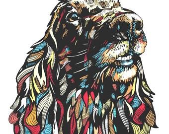 Cocker-Poodle-Do - Art Print