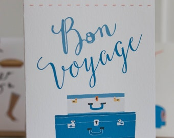 Bon Voyage Folding Card With Envelope