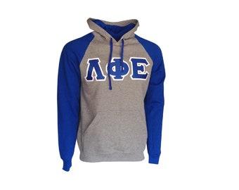 Lambda Phi Epsilon Color Block Hooded Sweatshirt