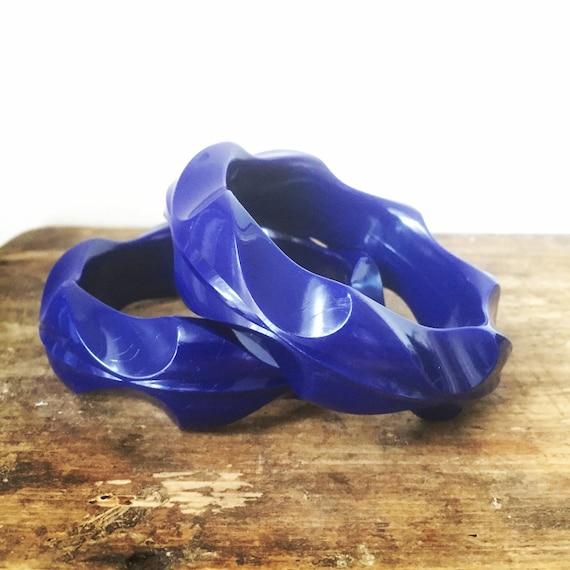 Vintage/bangles/Scandinavian/design/vintage/midmod /blue/scandinavian modern/braclet