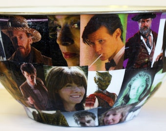 Who's Who in Doctor Who Popcorn Bowl