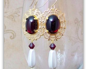 Medieval Earrings - Renaissance Earrings - Medieval Jewelry - Tudor Jewelry, Tudor Earrings