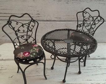 Miniature furniture garden | Etsy