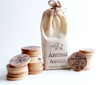 Animal Action - A Montessori and Waldorf Inspired Game of Gestures and Charades