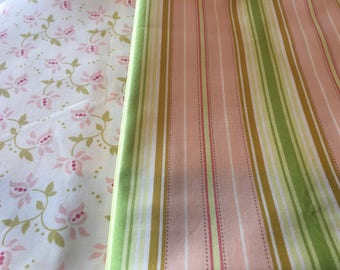 RARE Fresh Cut Heather Bailey One Yard Cuts Yardage Out of Print Floral Stripes Modern Quilting Sewing piecesofpine