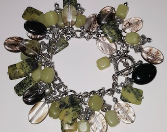 Lime Onyx Cluster Bracelet