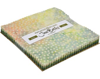 Charm Pack - Java Batiks Moss by Maywood Studio Precut Cotton Squares