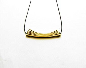 Brass Pendant Necklace-Minimalist Necklace-Statement Jewellery-Gold Modern Necklace-Minimalist Statement Necklace-Greek Modern Jewelry